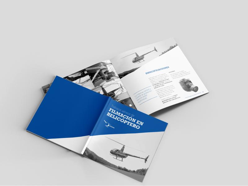 Diseño gráfico - Dossier de servicio - Helipistas Helicopters