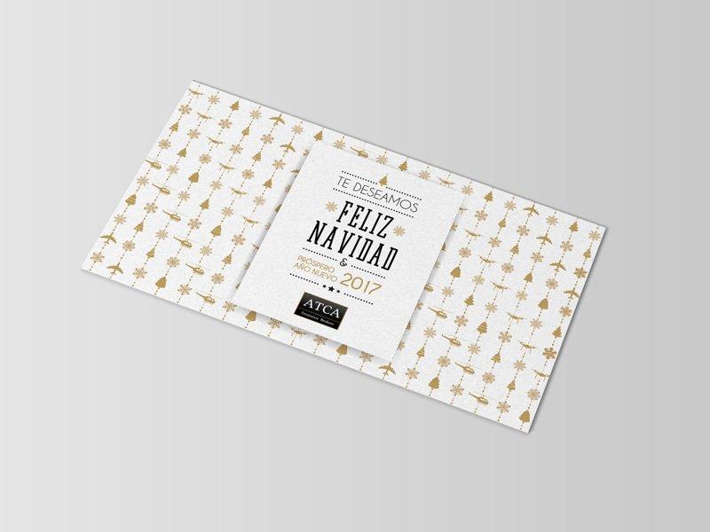 Diseño gráfico - Postal de navidad - ATCA Insurance Brokers