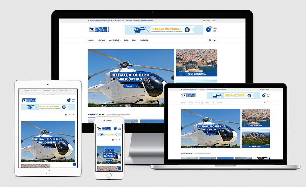 Web design - Barcelona Helicopters