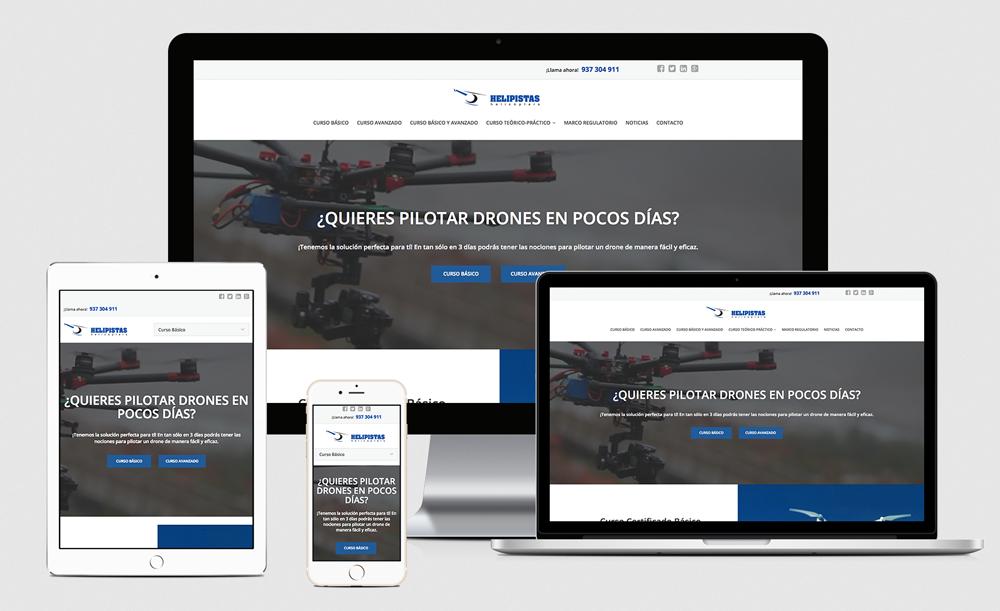 Diseño web - Escuela Pilotos Drone