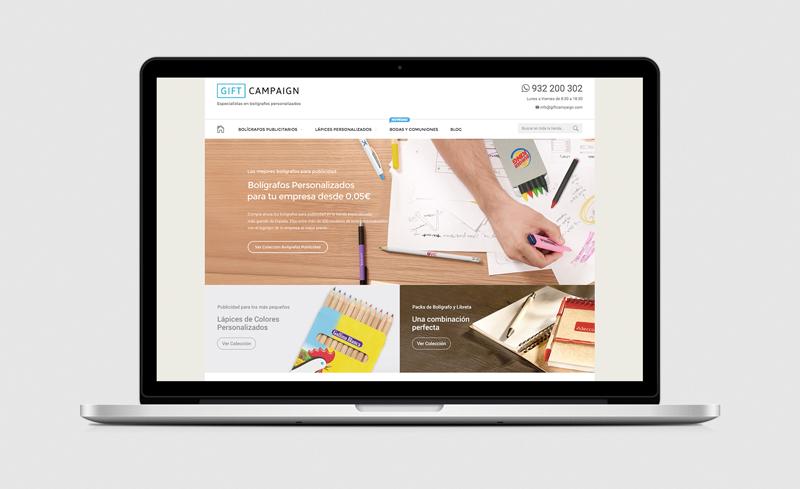 Diseño web - Bolígrafo Publicidad