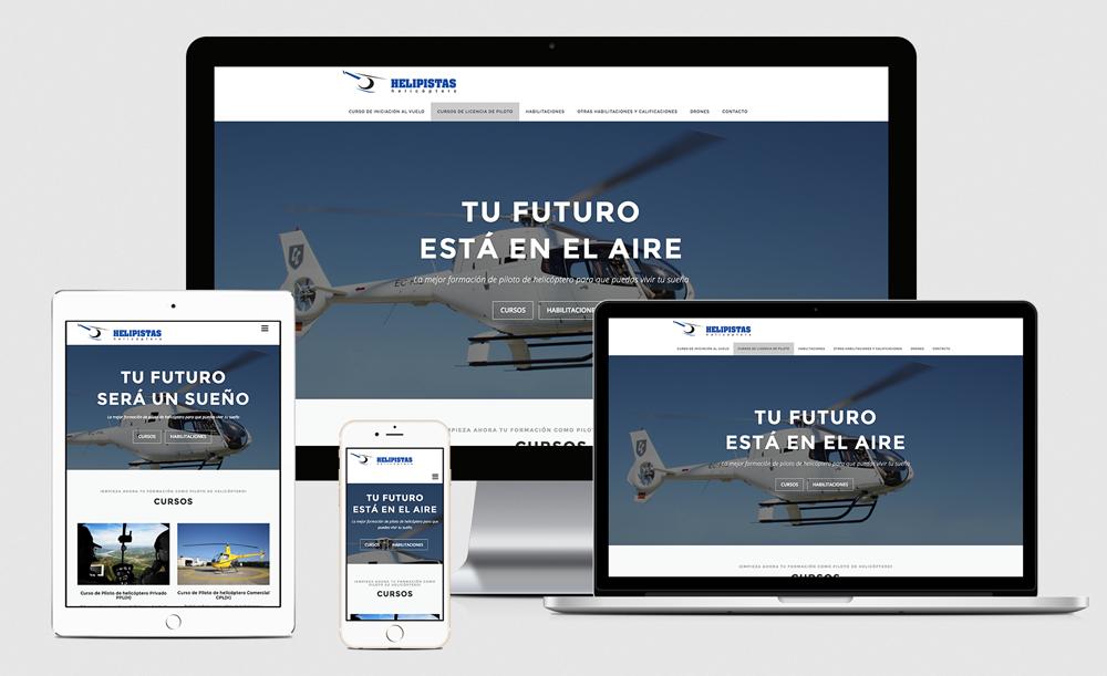 Diseño web - Escuela Pilotos Helicoptero
