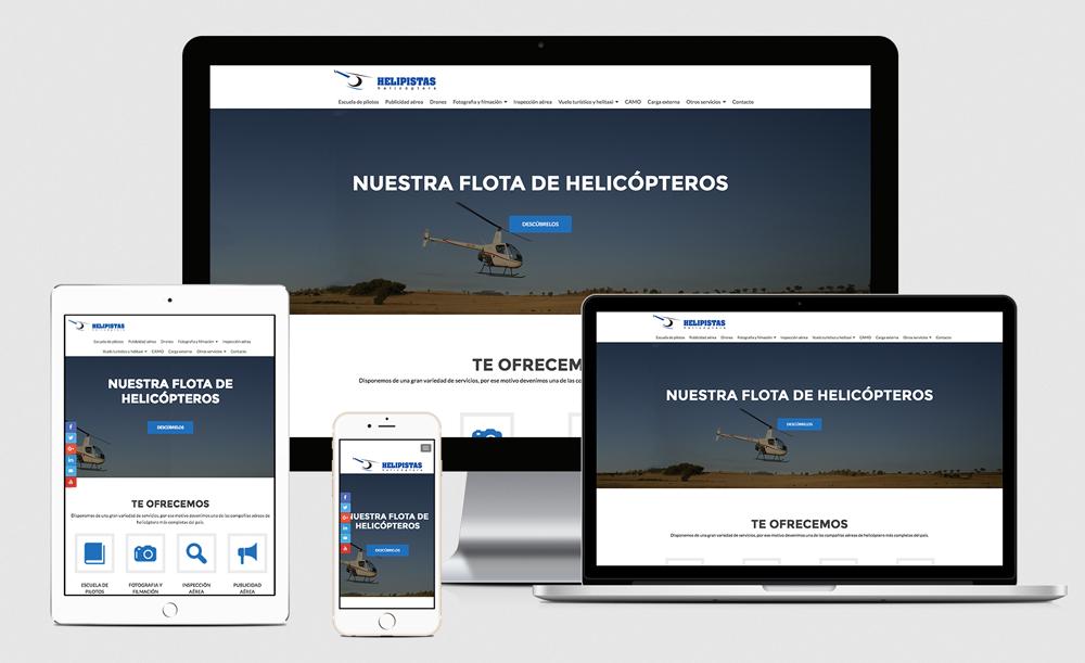 Web design - Helipistas Helicopters