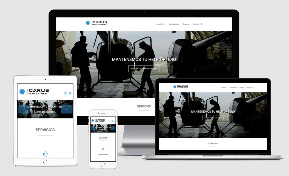 Diseño web - Icarus Manteniment
