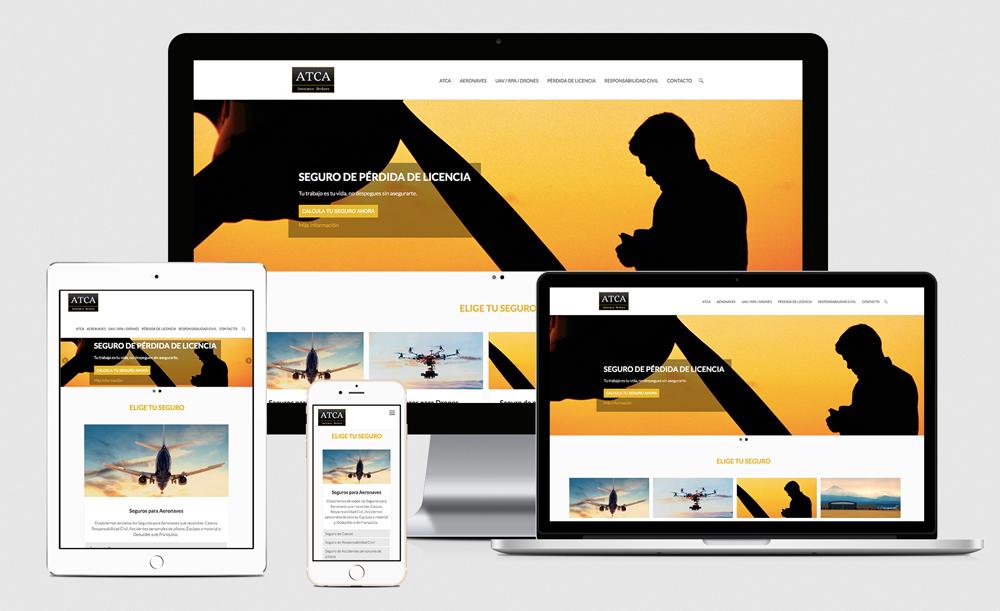 Diseño web - Seguros Aviación